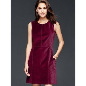 GAP Bell Burgundy Bell Shift Dress